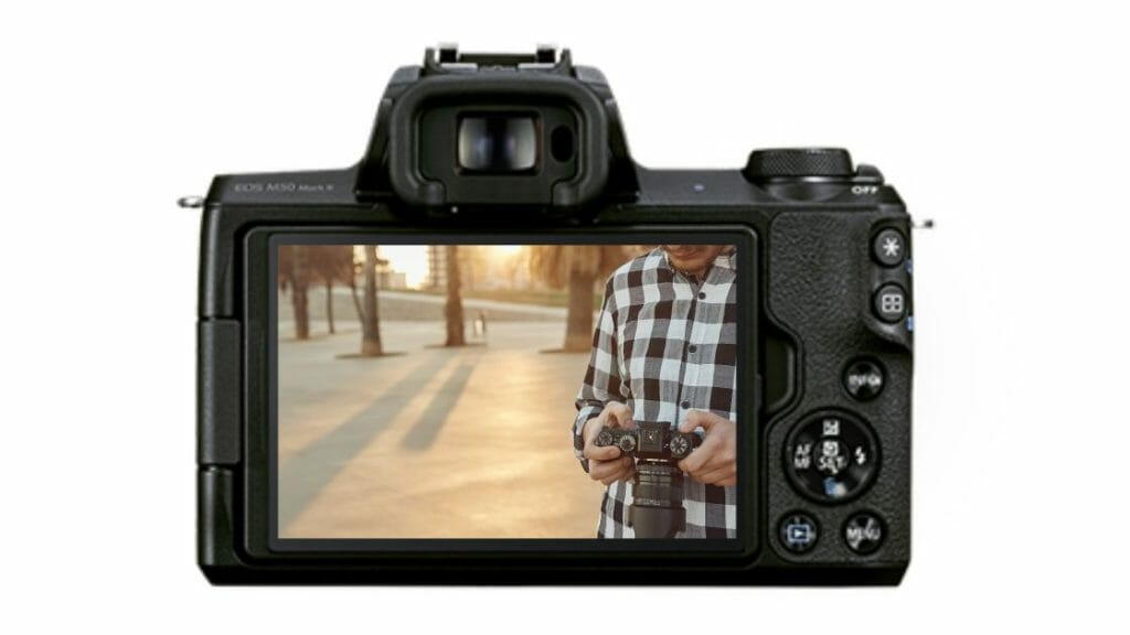 Canon m50 mark ii touch screeen